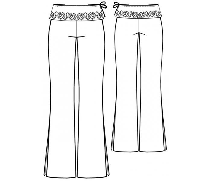 Выкройки брюк для женщин 10