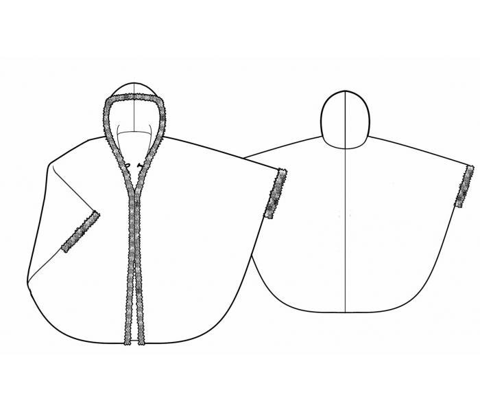 Как сшить пальто пончо фото